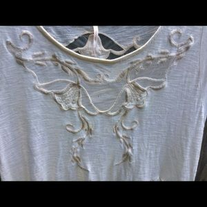 Free People Tops - Free People Mesh Embroidered Boho Blouse🌿